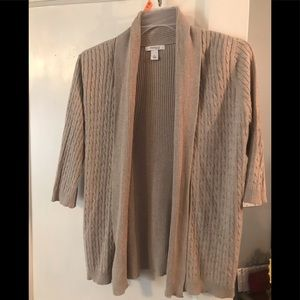 Dress Barn Beige Cardigan - Petite Large